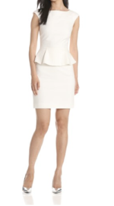 White peplum dress